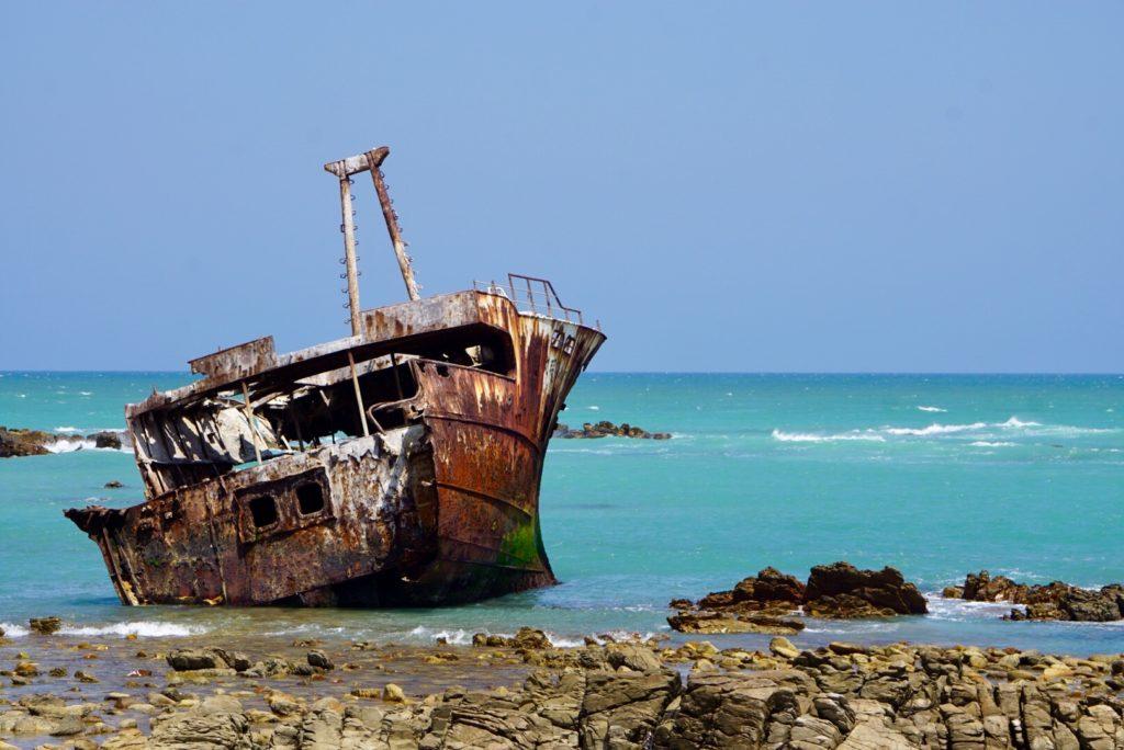 Schiffswrack bei Kap Agulhas, Garden Route Südafrika