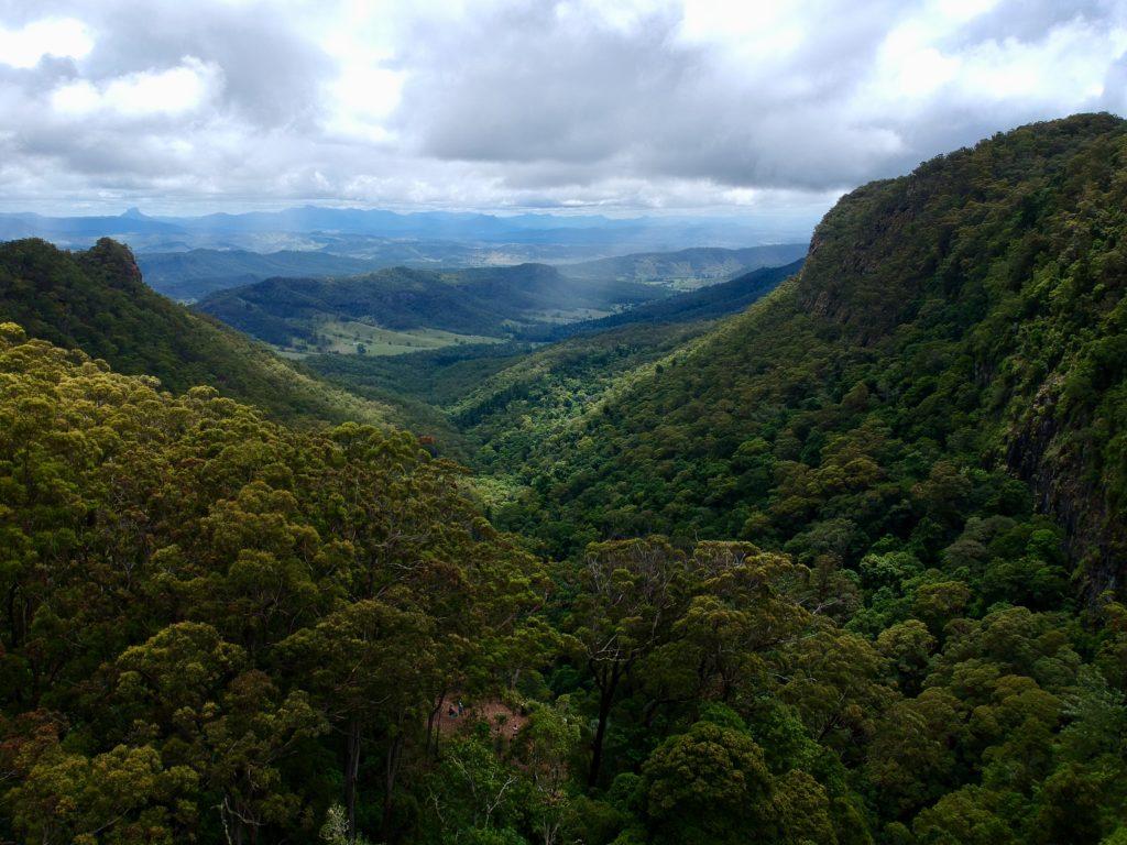 Lamington National Park aus der Luft