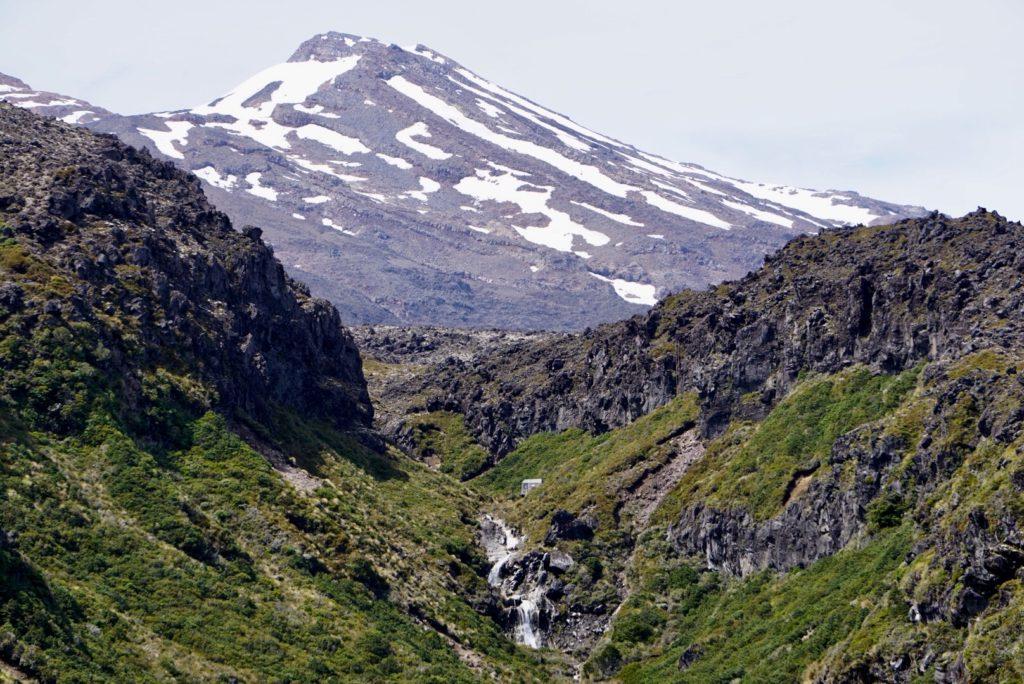 Aktiver Vulkan und Skigebiet. Mount Ruapehu im Tongariro-Nationalpark