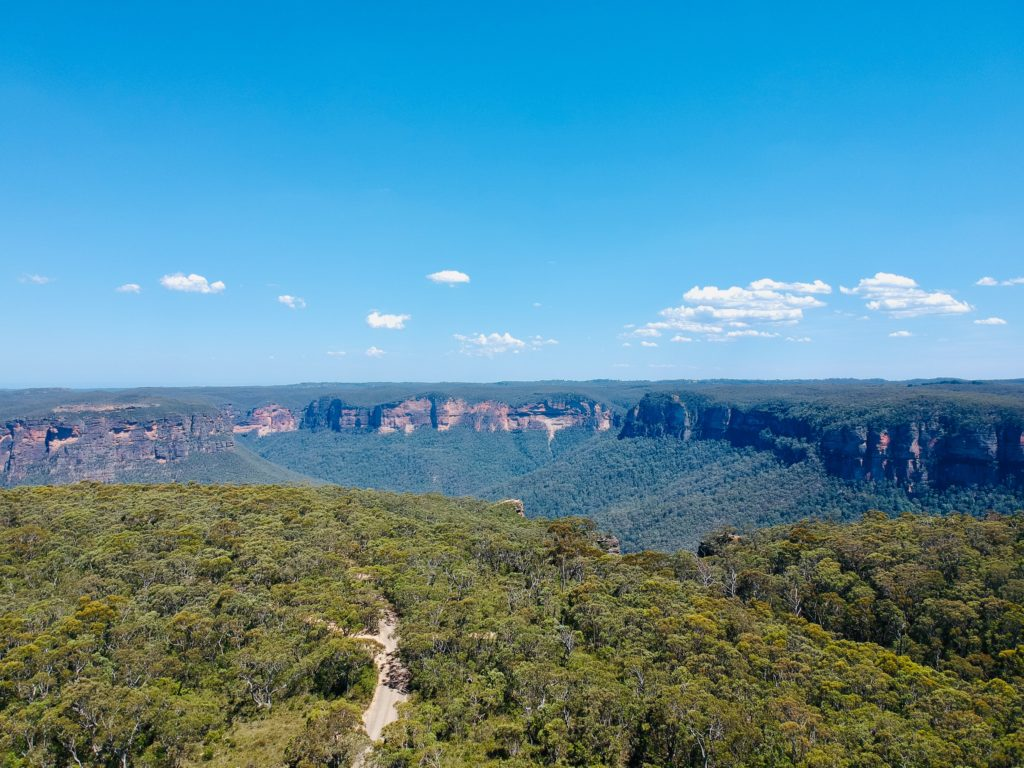 Blue Mountains National Park aus der Vogelperspektive