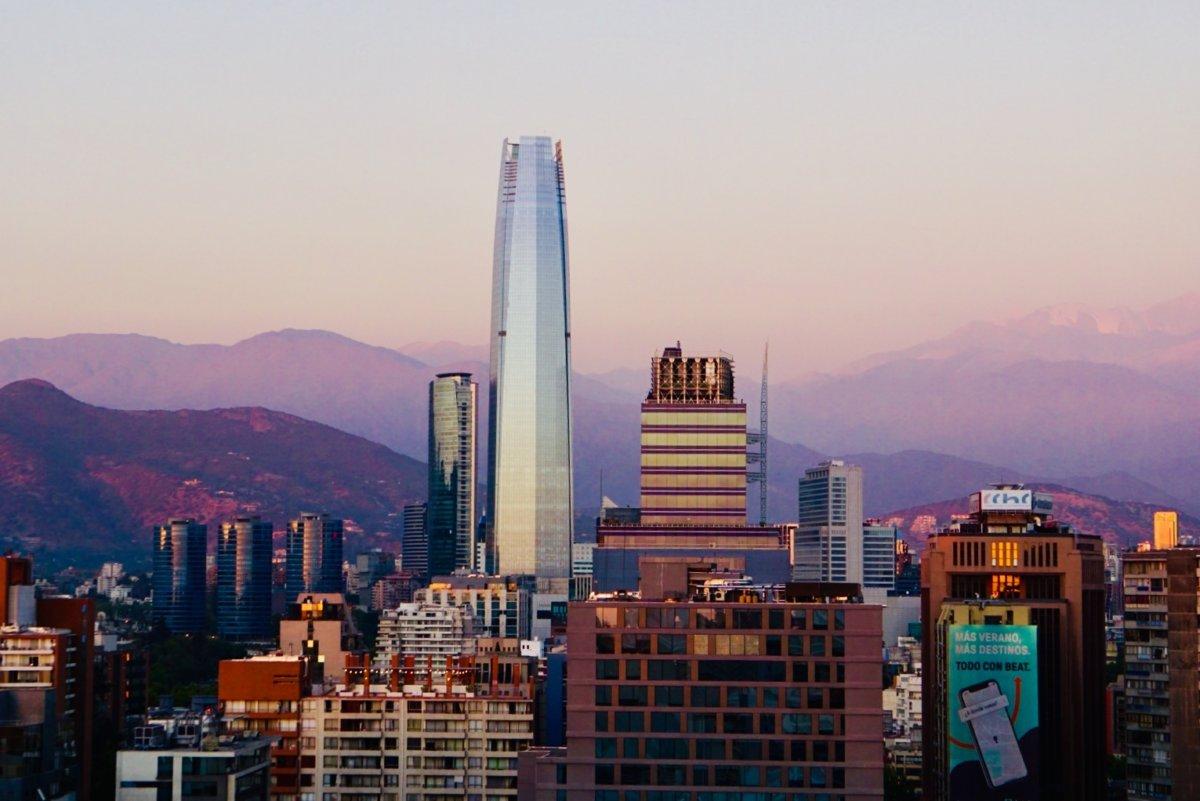 Santiago de Chile bei Sonnenuntergang