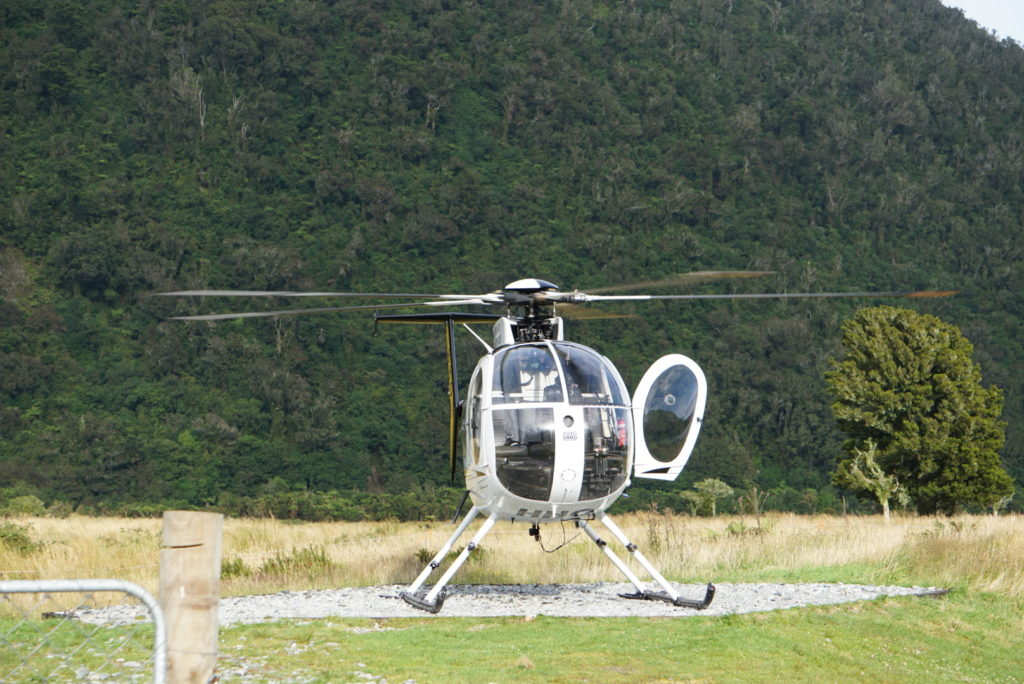 Hubschrauberflug am Franz-Josef-Gletscher