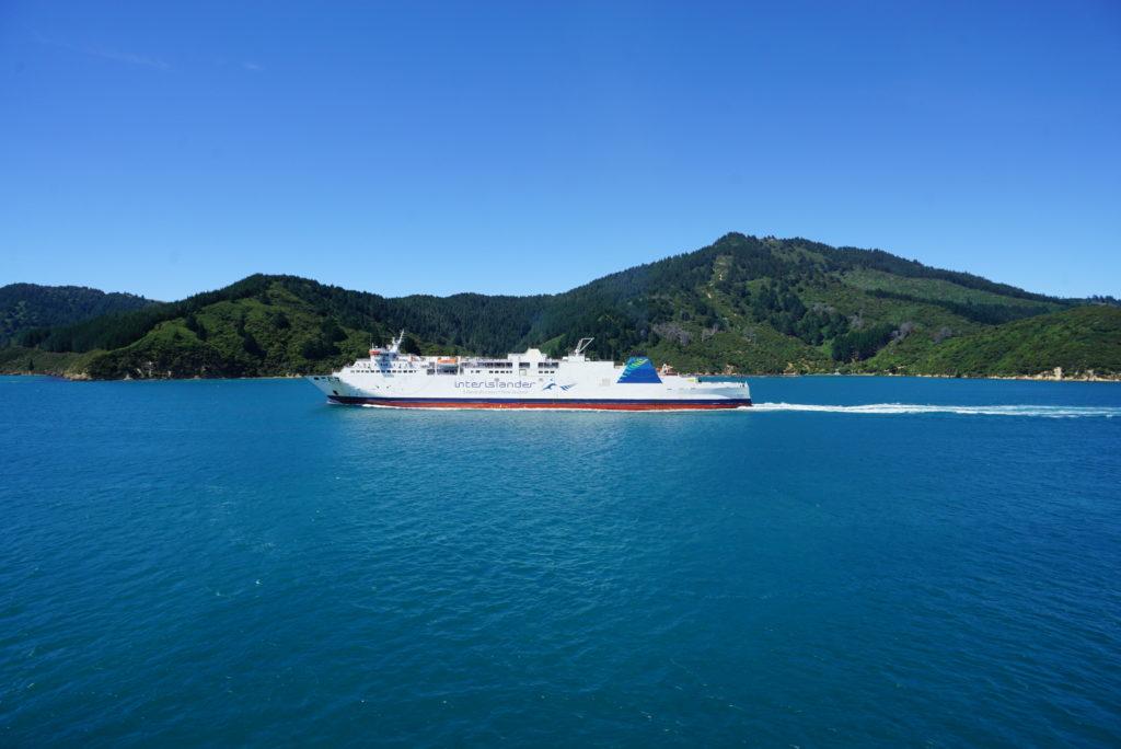 Mit der Fähre auf die Südinsel Neuseelands