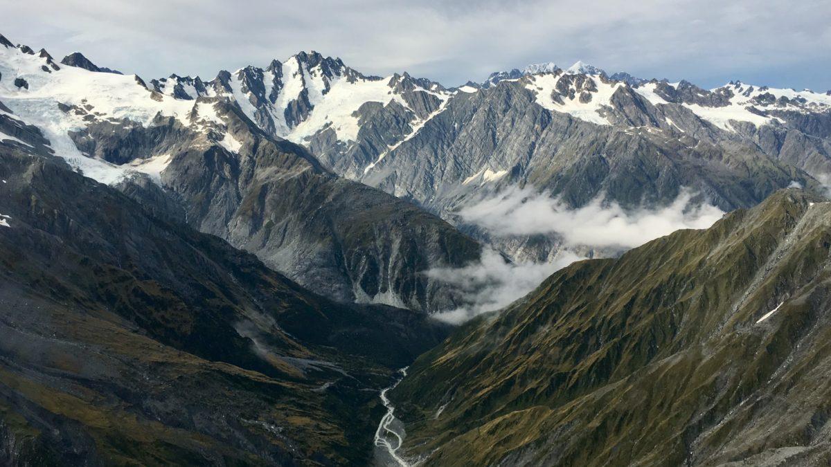 Helikopterflug am Franz-Josef-Gletscher