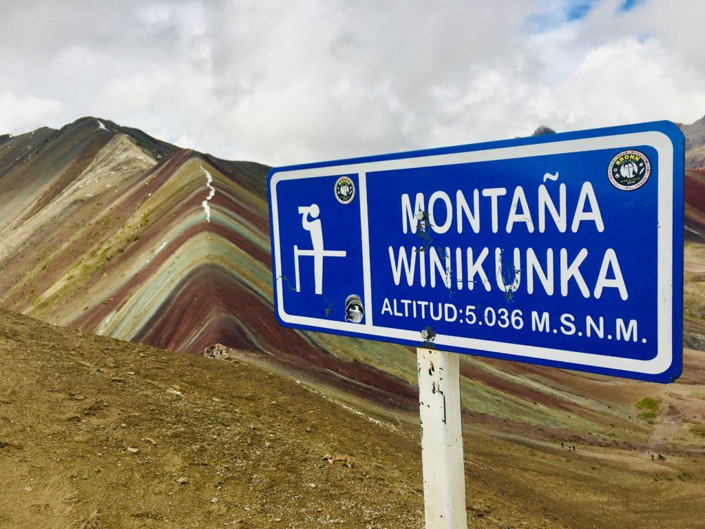 Montana Winikunka, Rainbow Mountain, Peru