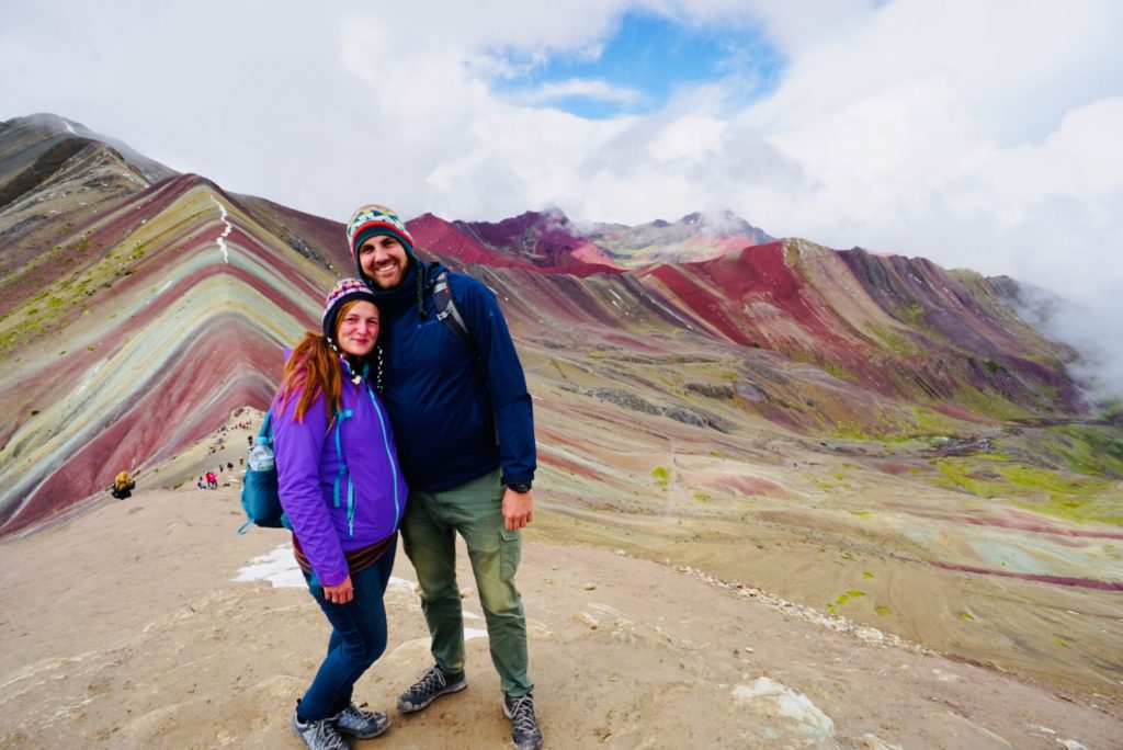 Edith & Gerrit am Rainbow Mountain, Peru