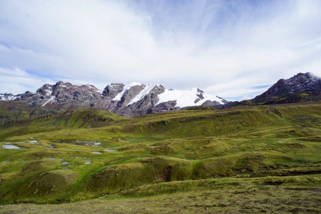 Gletscher auf dem Weg zum Rainbow Mountain, Peru