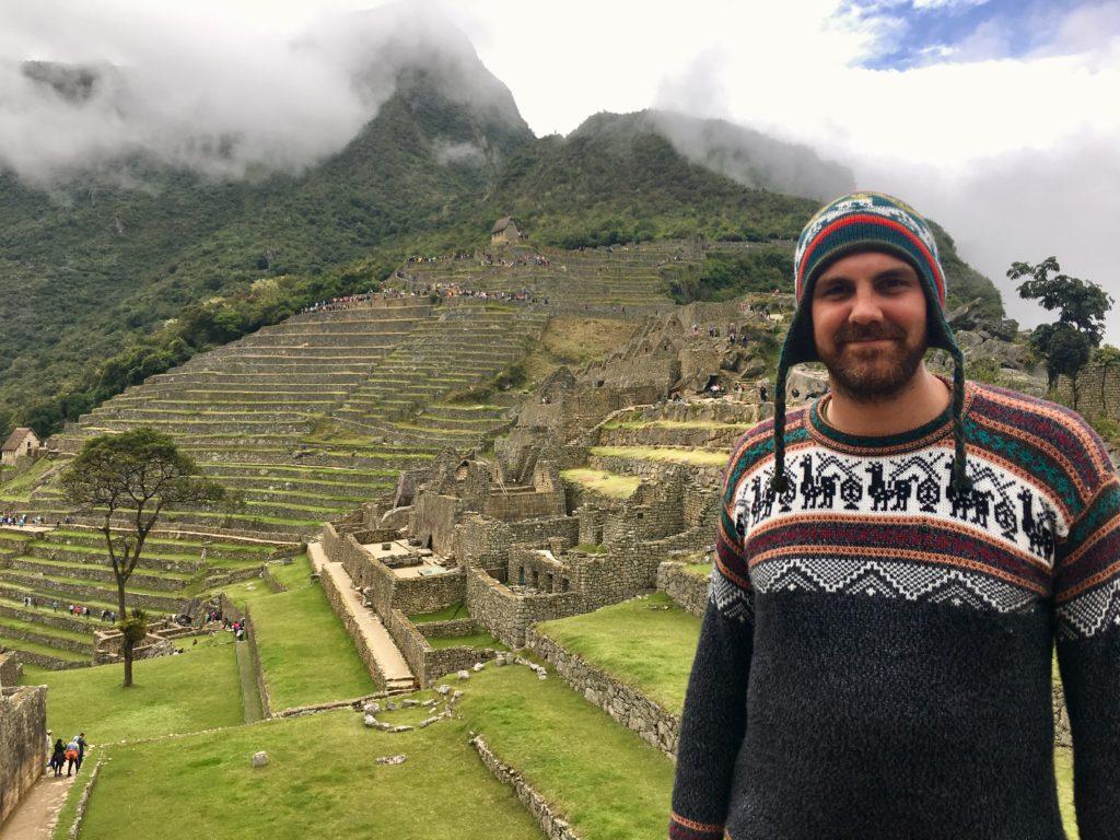 Gerrit in Machu Picchu